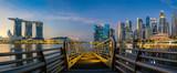 Sunrise and bridge in Singapore City