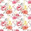Watercolor floral pattern - 151800408