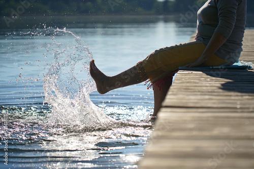 mit den Füßen im See...