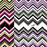 zigzag pattern background, retro/vintage style, with strokes and splashes