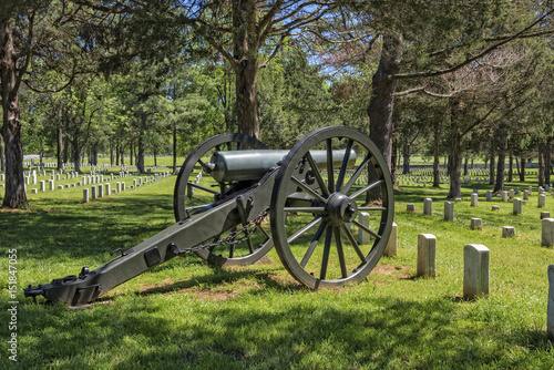 Zdjęcie XXL Cannon At The Stones River National Battlefield And Cemetery