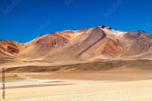 Salvador Dali Desert in Eduardo Avaroa Andean Fauna National Reserve, Bolivia Poster