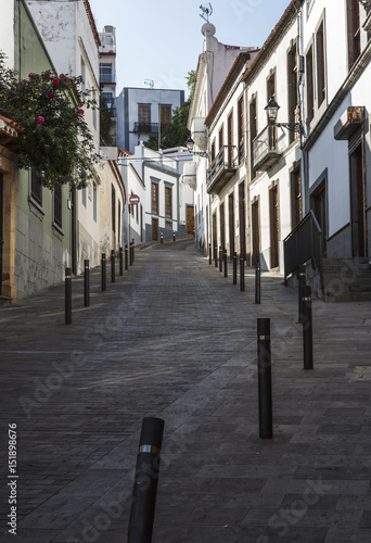 Backstreet in Teror on Gran Canaria, one of the Canary Islands in late afternoon.