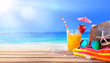Quadro Drinking And Relax On The Beach - Summer Concept