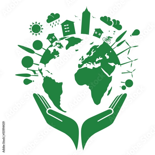 Earth and clean environment - in the hand