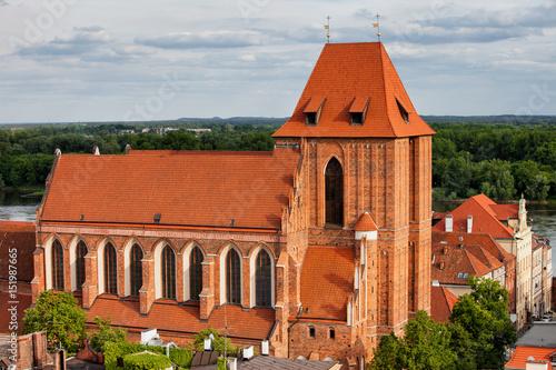 Fototapeta Gothic Cathedral in Torun, Poland