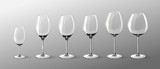 Realistic Empty Wine Glasses Collection - 152056842