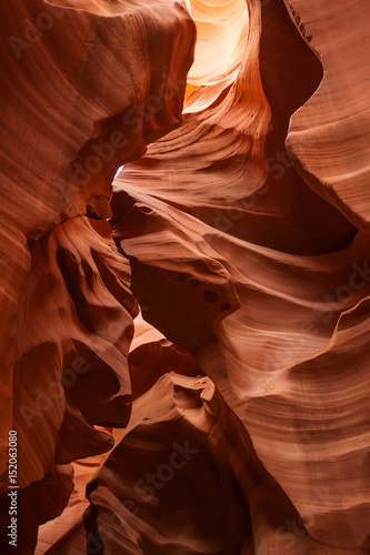 Staande foto Rood paars Real images of the lower Antelope canyon in Arizona, USA