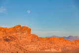 Moonrise Over Valley of Fire Nevada