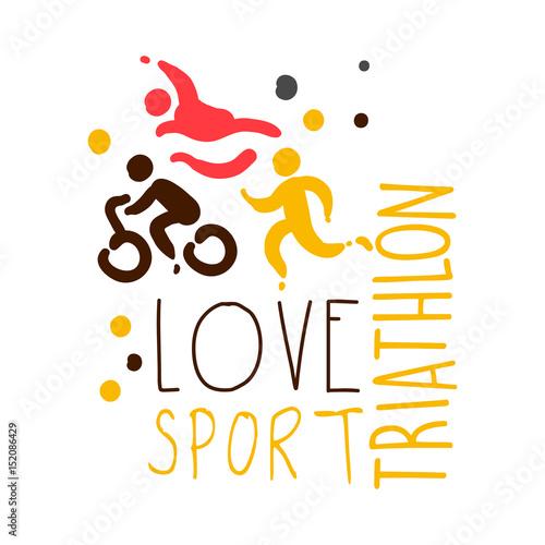 uwielbiam-sportowe-logo-triathlonu-kolorowa-reka-ilustracja
