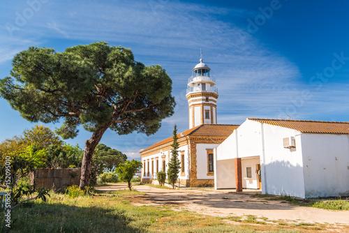 Faro lighthouse in Mazagon near Palos de la Frontera,Huelva,Spain