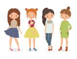 Fashion stylish girls