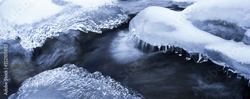 ice on a river