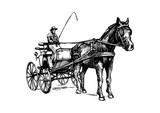 Open Carriage Wall Sticker