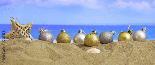 Christmas on a sandy beach - 152127455