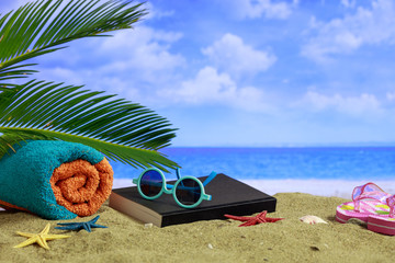 Summer vacations concept - Sandy beach