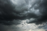 Fototapeta Na sufit - Dark sky and black clouds before rainy, Dramatic black cloud and thunderstorm © peangdao