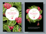 Tropical flower vertical banners - 152145831