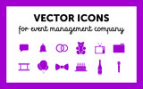 Badges for company on organization of events