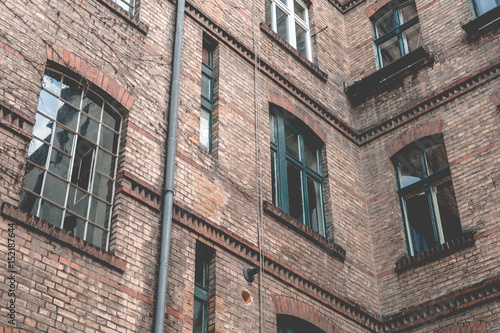 backyard , facade of old building in Berlin - 152187644