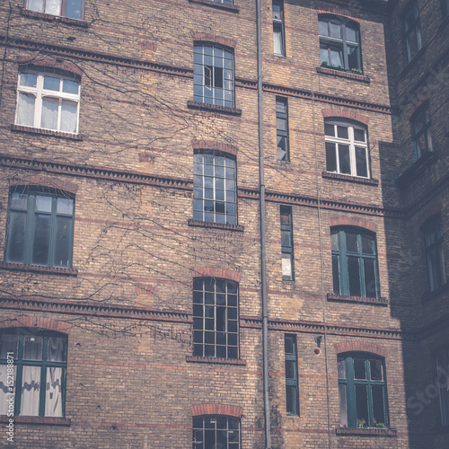 backyard , facade of old building in Berlin - 152188871