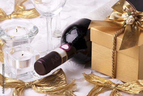 Wine and gift Poster