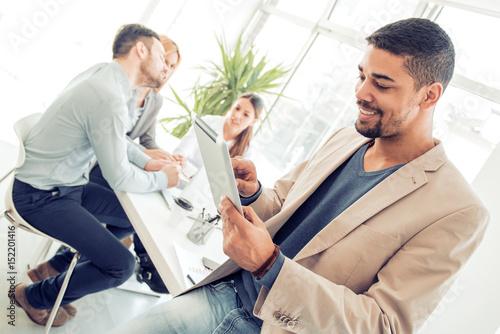 Business team work process