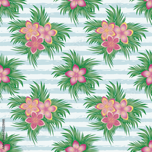 Beautiful summer seamless pattern, vector illustration