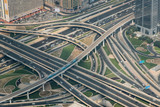 Interchange in Dubai from the top Burg Khalifa