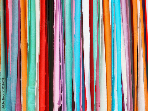 Colorful stripes made of paper Poster