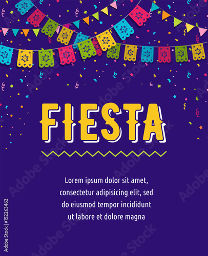 Mexican Fiesta background, banner