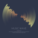 Vector poster of the sound wave. - 152276089