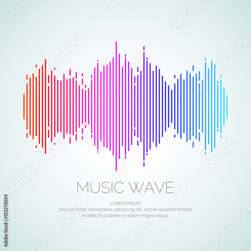 Poster of the sound wave from equalizer