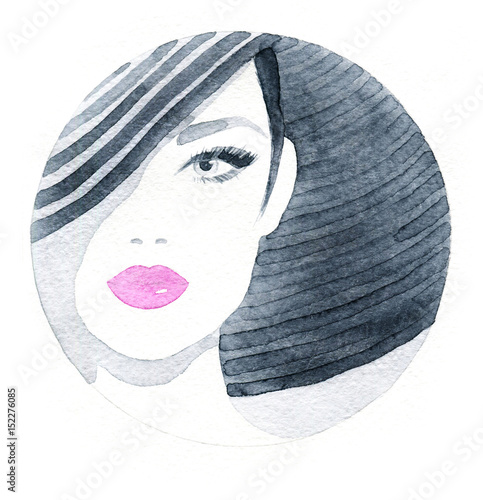 Fashion illustration. Watercolor painting