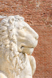 lion statue, symbol of Venice, italy