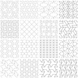 Set of 25 seamless geometric patterns.