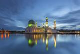 Kota Kinabalu City Mosque (The Floating Mosque) or Masjid Bandaraya Kota Kinabalu in blue hour