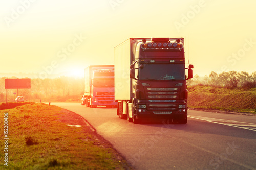 Fototapeta truck on a highway