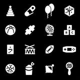 Vector white toys icons set