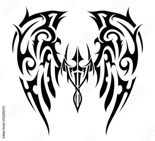 Wings tattoo tribal art