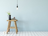 Fototapety  mock up wall interior. Scandinavian style. Wall art. 3d rendering, 3d illustration