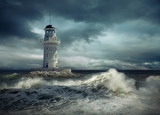 Lighthouse on the sea under sky - 152295013
