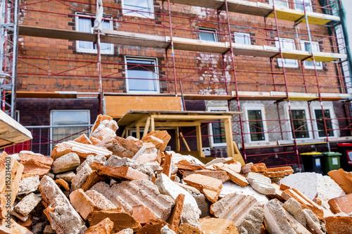rubble on building site - 152314403