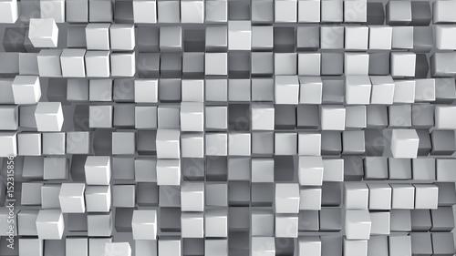 Fototapeta White cubes 3D render background
