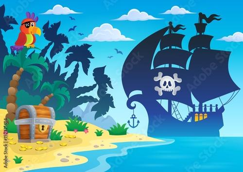 Pirate vessel silhouette theme 4