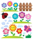 Happy flowers topic set 3