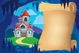 Parchment In Fairy Tale Cave Image 1 Wall Sticker