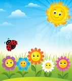 Spring topic background 8
