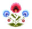 Kwiaty - ludowy wzór / folk cut-out art