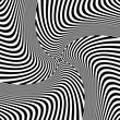 Rotation torsion illusion. Abstract op art design.